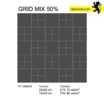 grid mix 50. Patrones azulejos pizarra. Slate tiles patterns.