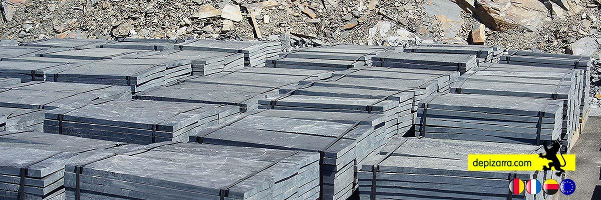 Placa de pizarra para suelos y revestimientos. Plaqueta pizarra suelos. Fliesen Schiefer. Slate Tiles. Dalle Ardoise Naturelle.