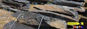 Monolito de pizarra para jardines y decoración. Monolitos de pizarra desde cantera en el Bierzo. Pizarra para jardín. Ardoise dallets et monolithes. Monolithes de Ardoise. Monolithes ardoise.