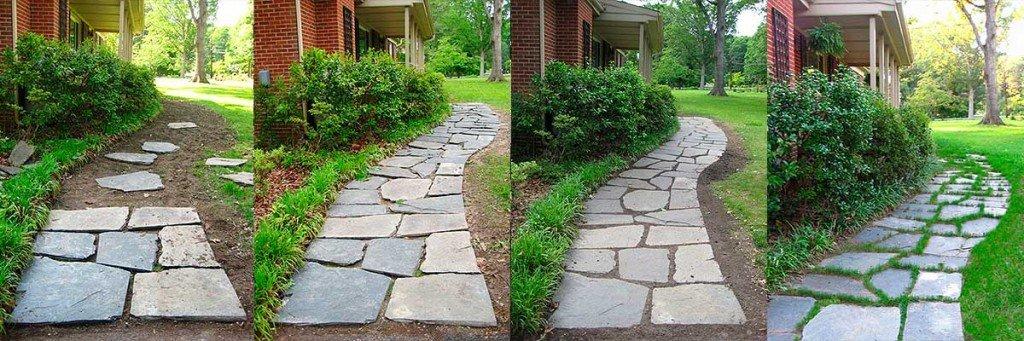 Pizarra irregular para exteriores for Caminos de piedra en el jardin