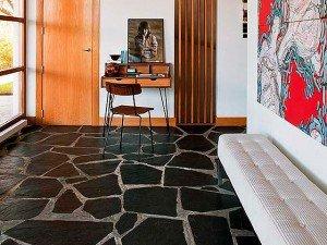 Pizarra irregular suelo. Revestimiento pizarra natural. Slate flooring.