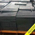 Placa de pizarra suelo baldosa de pizarra 60x30x3 cm. Rustic black slate tile. Fliesen schiefer.