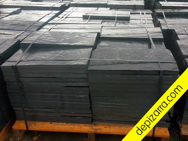Placa de pizarra suelo baldosa de pizarra 60x30x3 cm. Suelo de Pizarra. Rustic black slate tile. Fliesen schiefer. Dalles ardoise.