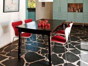 Suelo pizarra natural. Pizarra irregular para suelo interior y exterior. Slate flooring.