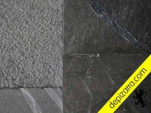 Acabados superficiales de la placa de pizarra para suelo y revestimientos. Acabados pizarra suelo.
