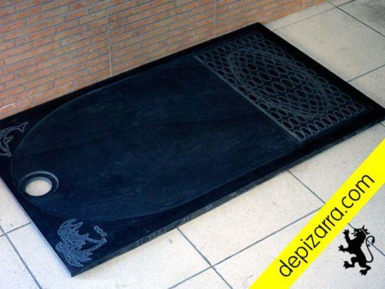 Plato de ducha de pizarra natural. Diseños personalizados. Elegante y exclusivo plato de ducha de pizarra. Fabricación a medida.