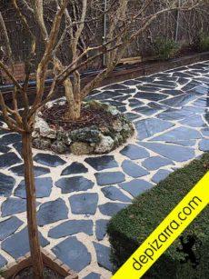 Resistente pizarra natural para jardines y exteriores. Suelo pizarra exterior precio.