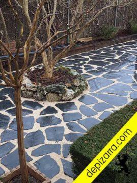 Planch n de pizarra pizarra irregular suelo exterior y - Suelos para jardines exteriores ...