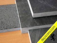 Tratamientos superficiales de la placa de pizarra natural para suelos y revestimientos. Tratamiento pizarra suelo.