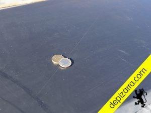 Placa de pizarra para encimera de lavabo, pulida y coating. Pizarra lavabo.