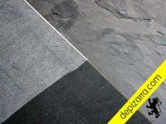 Tratamiento superficial de pizarra natural, pizarra serrada y pizarra serrada con protector. Placa pizarra superficie.