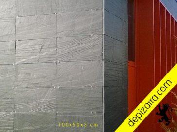 Pizarra natural en formatos 100x50x3cm para fachada ventilada piedra natural.