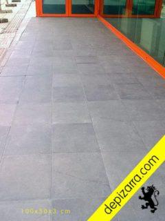 Suelo de pizarra natural para exteriores 100x50x3cm. Suelos exterior piedra.