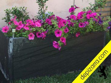 Jardinera de pizarra natural. Pizarra de León adecuada para uso en exteriores.