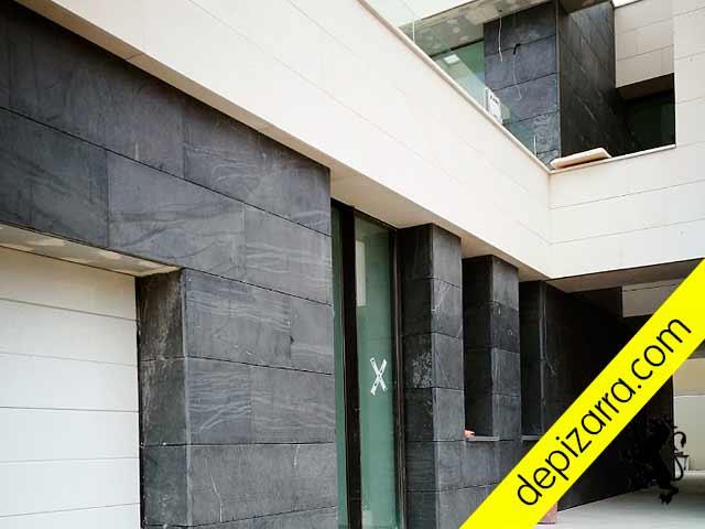 Revestimiento de fachadas con pizarra.