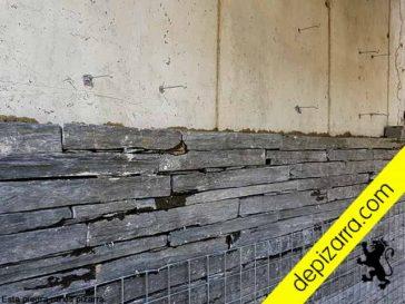 Piedras en malla para pared.